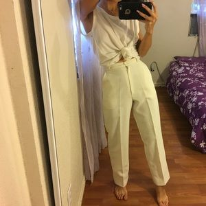 perfect vintage off white trousers